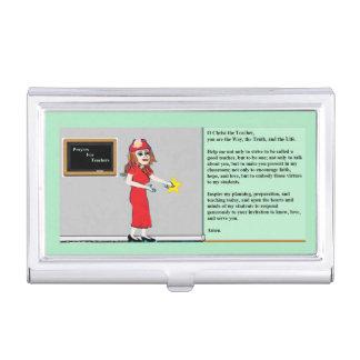 Prayer for Teachers Business Card Holder