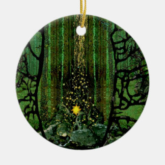 Prayer for the Forests Ceramic Ornament