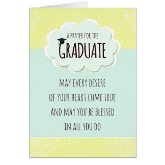 Prayer for the Graduate Graduation Congratulations Card