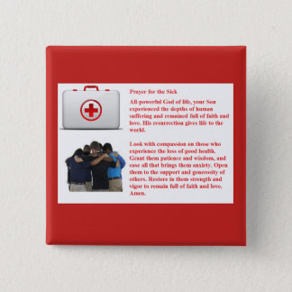 Prayer for the Sick 15 Cm Square Badge