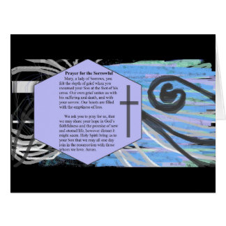 Prayer for the Sorrowful Card