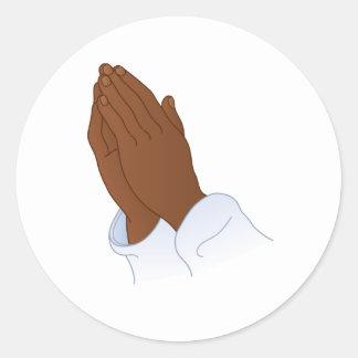 Prayer Hand Round Sticker