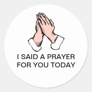 Prayer Hands Sticker