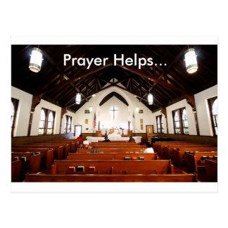 Prayer Helps Postcard