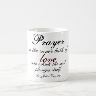 Prayer is the inner bath of love coffee mug