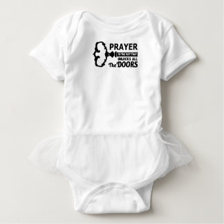 Prayer is the key to all doors baby bodysuit
