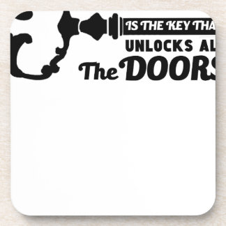 Prayer is the key to all doors coaster