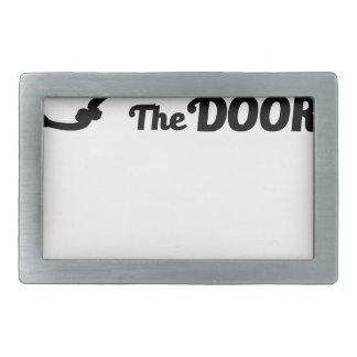 Prayer is the key to all doors rectangular belt buckles