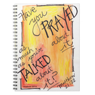 Prayer journal Talk about it less, pray more Spiral Notebooks