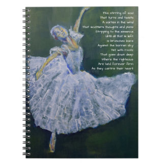 Prayer journal with ballerina & poetry