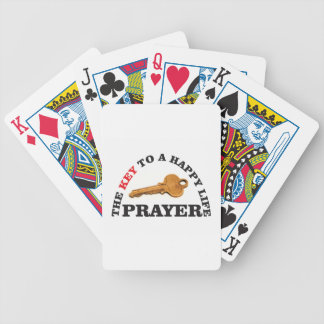 prayer key to happy life bicycle playing cards