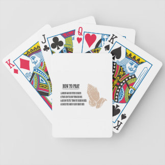 prayer lesson bicycle playing cards