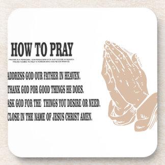 prayer lesson coaster