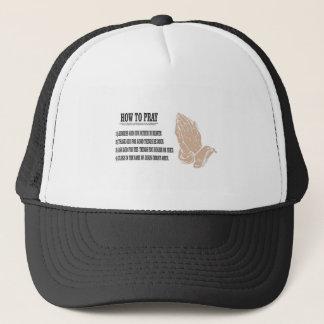 prayer lesson trucker hat