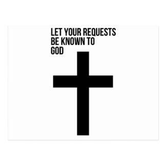 Prayer: Let Your Requests be Known to God Postcard