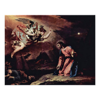 Prayer Of Christ On The Mount Of Olives By Ricci Custom Announcements