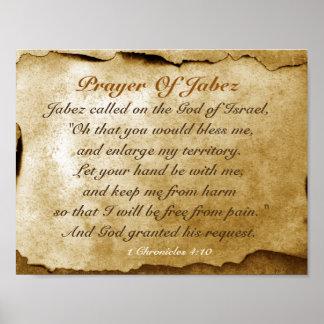 Prayer of Jabez Bible Verse Poster