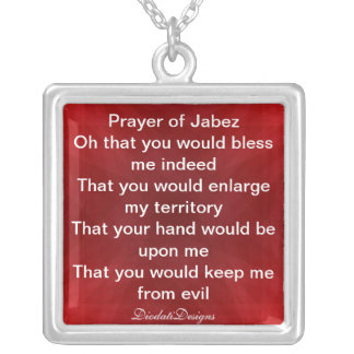 Prayer of Jabez Necklace Red & White