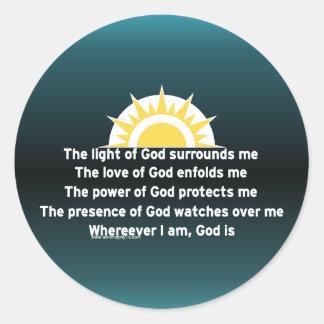 Prayer of Protection Classic Round Sticker