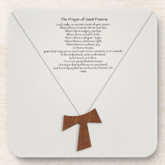 Prayer of Saint Francis Beverage Coaster