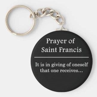 Prayer of Saint Francis Key Ring