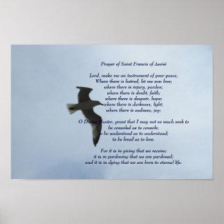 Prayer of Saint Francis of Assisi Poster