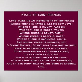 Prayer of Saint Francis* Poster