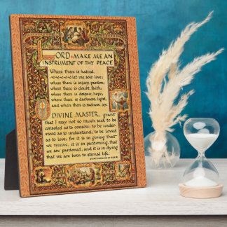 Prayer of Saint St. Francis of Assisi 15:17 Paris Plaque