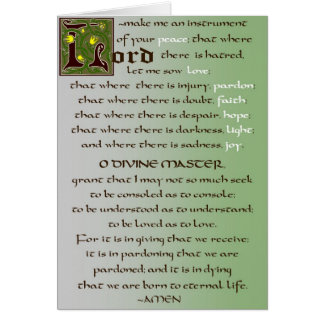 Prayer of St. Francis Catholic Card