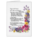 Prayer of St. Francis Greeting Cards
