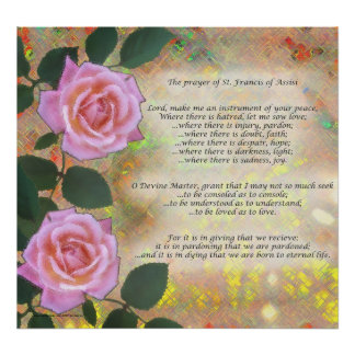 Prayer of St. Francis of Assisi Poster