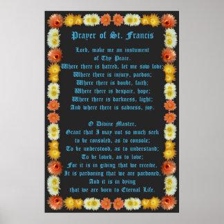 Prayer of St Francis with Barrel Cactus Border Print