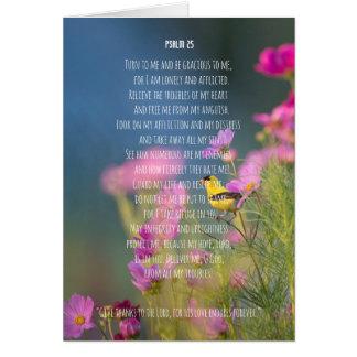 Prayer, psalm 25 personalised christian card