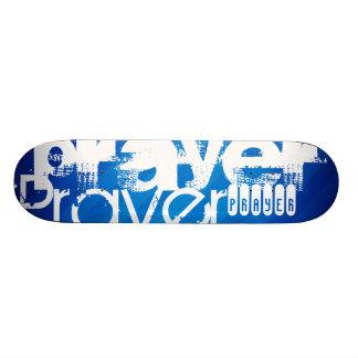 Prayer; Royal Blue Stripes Skate Deck