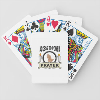 prayer the access to power bicycle playing cards