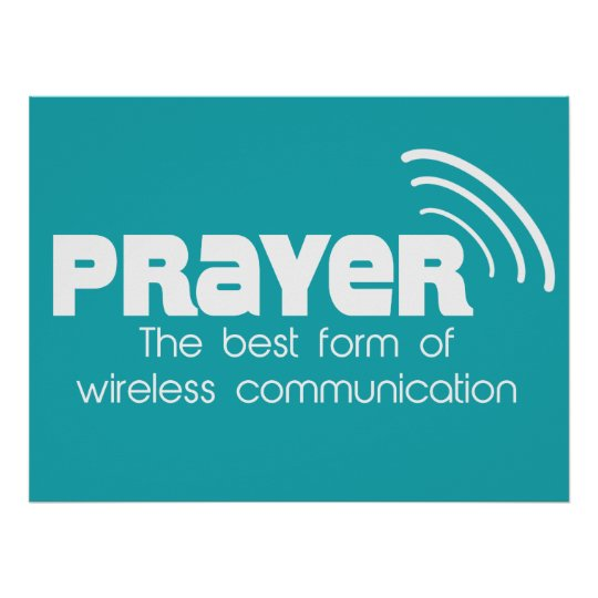 Prayer the Best Form of Communication Poster