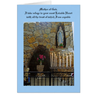 Prayer to Our Lady Card
