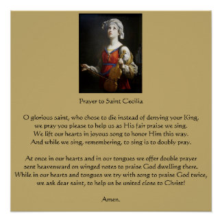 Prayer to Saint Cecilia Poster