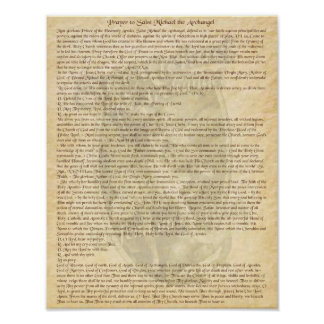 PRAYER TO ST MICHAEL THE ARCHANGEL POSTER