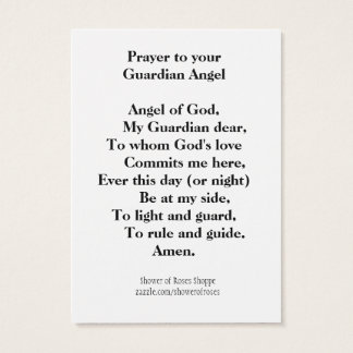 Prayer to Your Guardian Angel Business Card