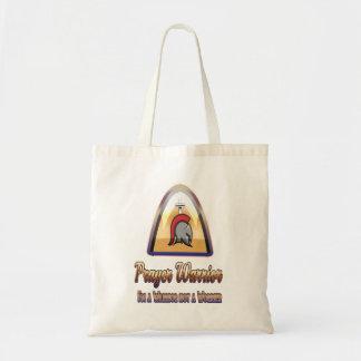 Prayer Warrior Budget Christian Tote Bag