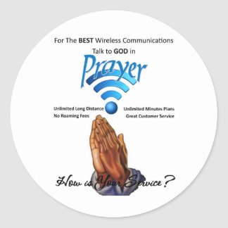 Prayer: Wireless Communication Classic Round Sticker