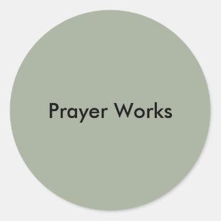 Prayer Works Classic Round Sticker