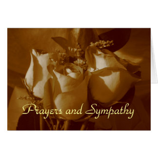 Prayers and Sympathy - Rose Trio In Sepia Card