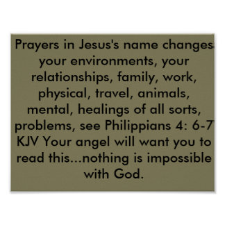 Prayers change your environments Poster