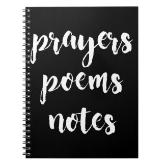 Prayers, Poems, Notes Notebook