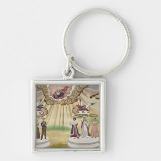 Prayers to the Gods for the Liberation of Greece, Silver-Colored Square Key Ring