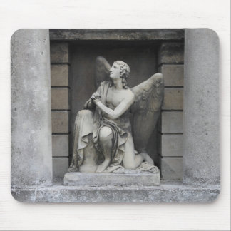 Praying Angel Sculpture Mouse Pad