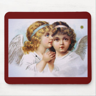 Praying angels children mouse pads