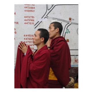Praying at Boudha Stupa Postcard